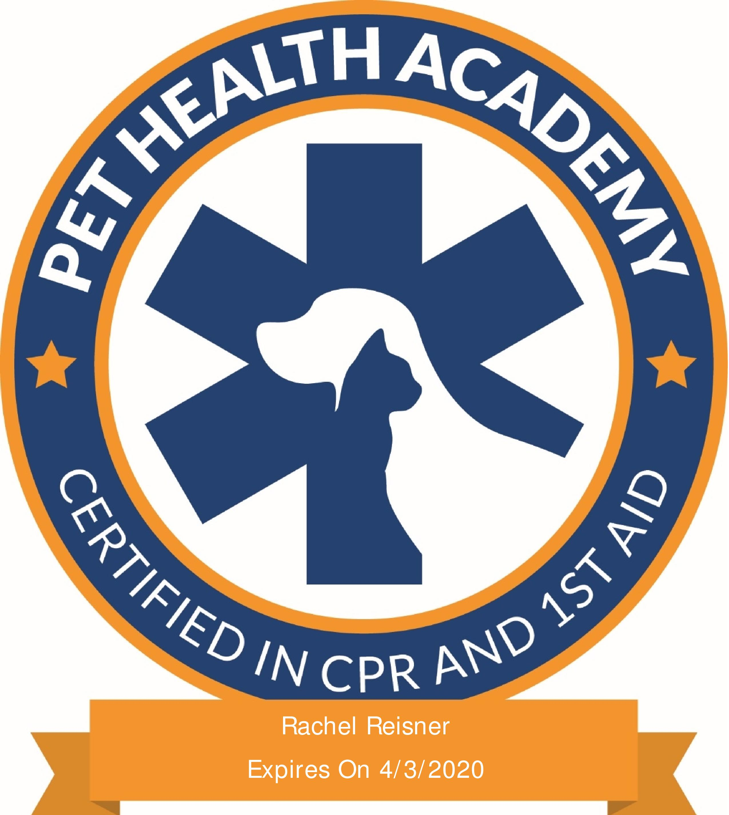 Certified In Pet Cpr And First Aid Cats And Hamsters